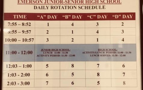 Emerson's new schedule!
