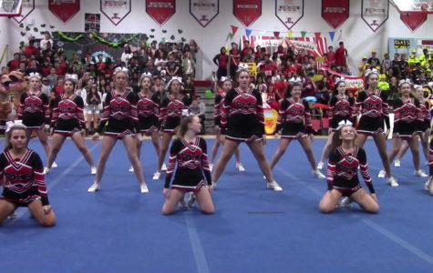 EHS cheer team brings their pom-poms to pep rally!