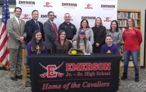 Outstanding softball senior signs to play in college