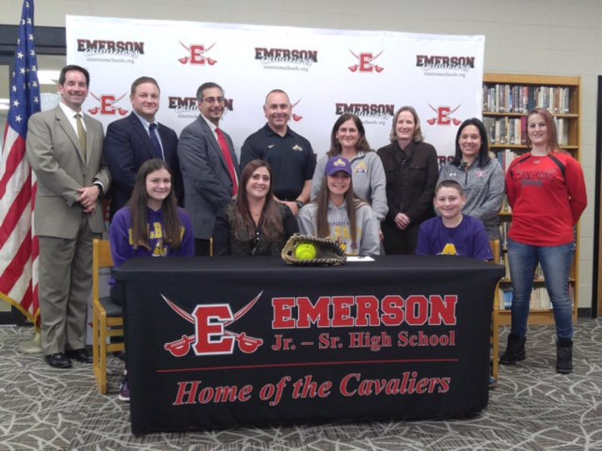 Katie Falotico signs her letter of intent to play softball at The University of Albany next year. Although she's played other sports in the past, Falotico says softball is her calling.