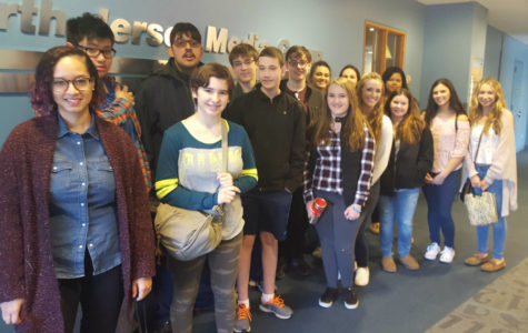 Journalism students learning from experts at The Record headquarters