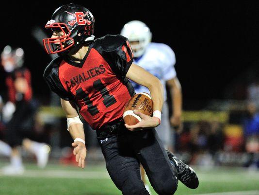 Peter Durocher running the ball.