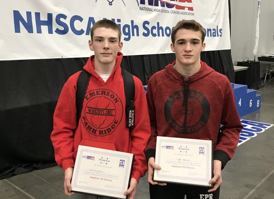 Logan Mazzeo (right) and Nick Babin (left) at the Sophomore Nationals in Virginia Beach.
