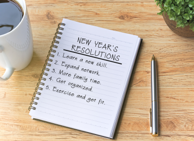 Ringing in the New Decade with New Year's Resolutions